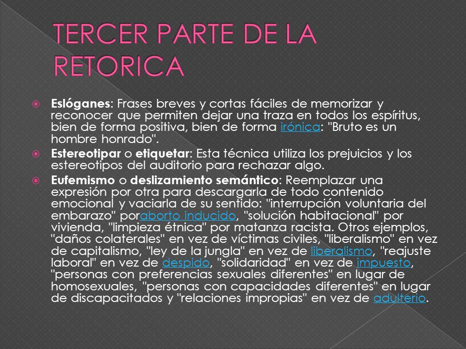 TERCER PARTE DE LA RETORICA