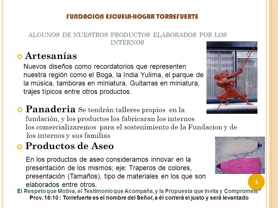 ALGUNOS DE NUESTROS PRODUCTOS ELABORADOS POR LOS INTERNOS