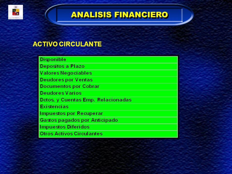 ANALISIS FINANCIERO ACTIVO CIRCULANTE