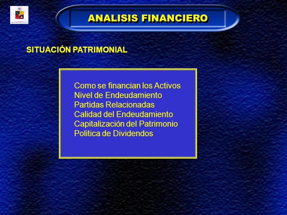 ANALISIS FINANCIERO SITUACIÓN PATRIMONIAL