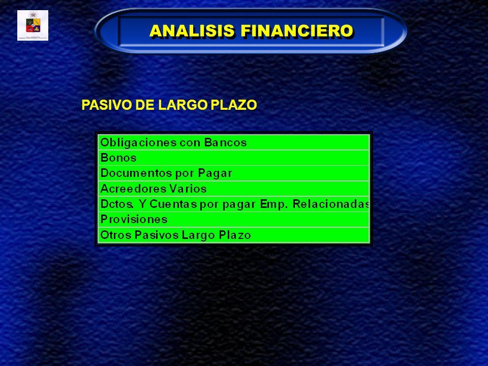 ANALISIS FINANCIERO PASIVO DE LARGO PLAZO