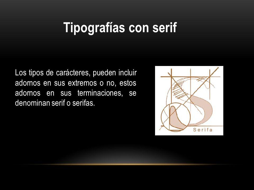 Tipografías con serif