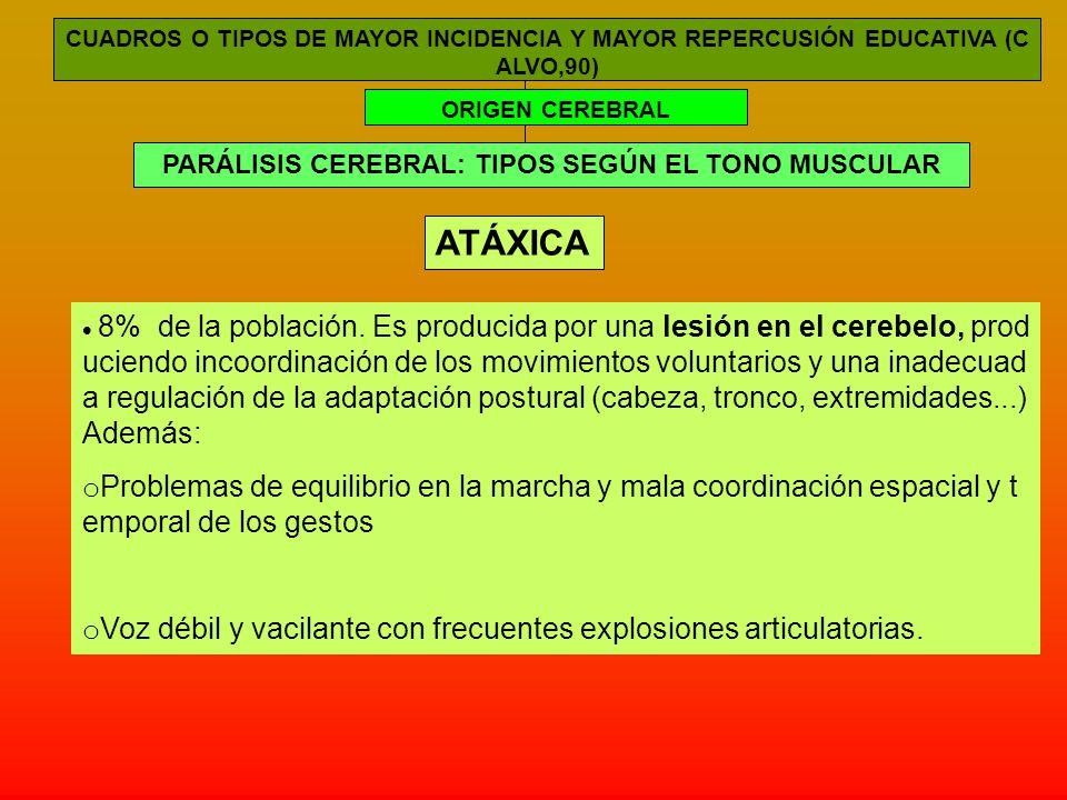 PARÁLISIS CEREBRAL: TIPOS SEGÚN EL TONO MUSCULAR