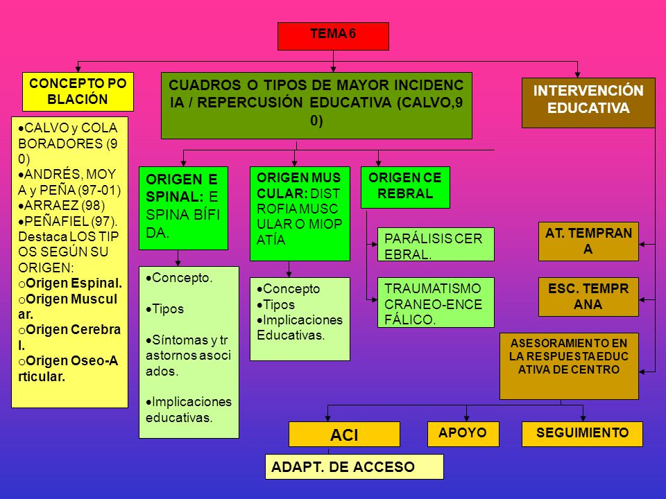 TEMA 6 CONCEPTO POBLACIÓN. CUADROS O TIPOS DE MAYOR INCIDENCIA / REPERCUSIÓN EDUCATIVA (CALVO,90) INTERVENCIÓN EDUCATIVA.