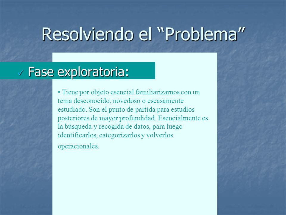 Resolviendo el Problema