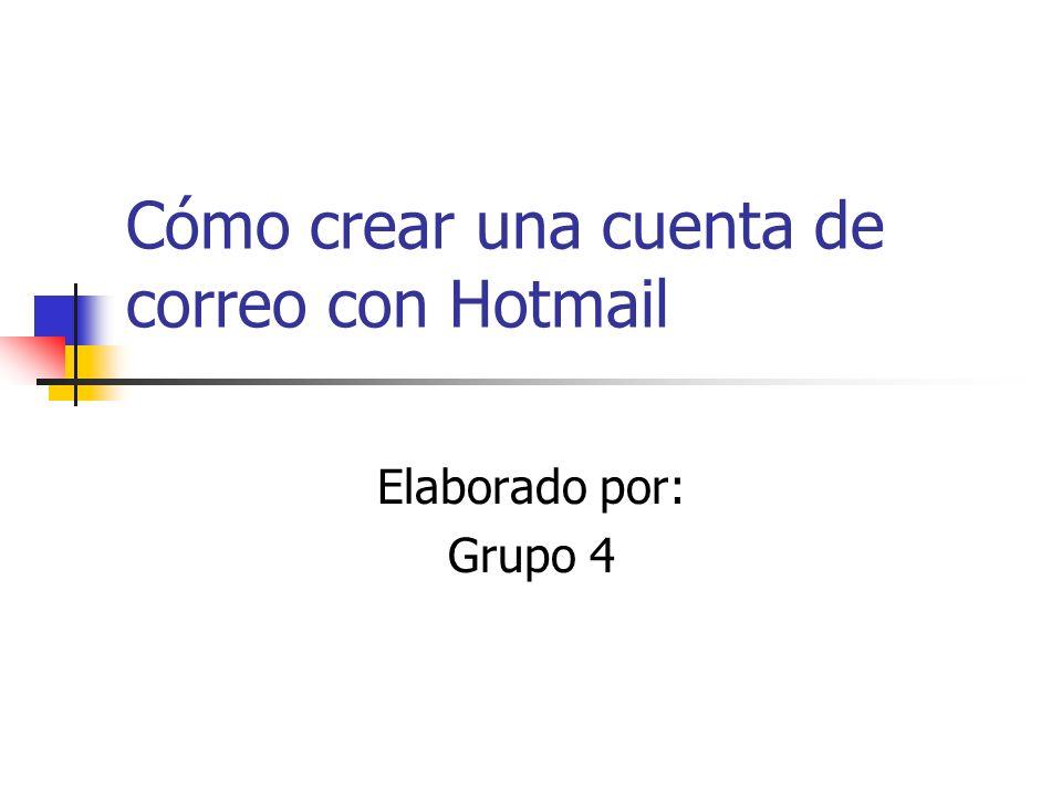 Cómo crear una cuenta de correo con Hotmail