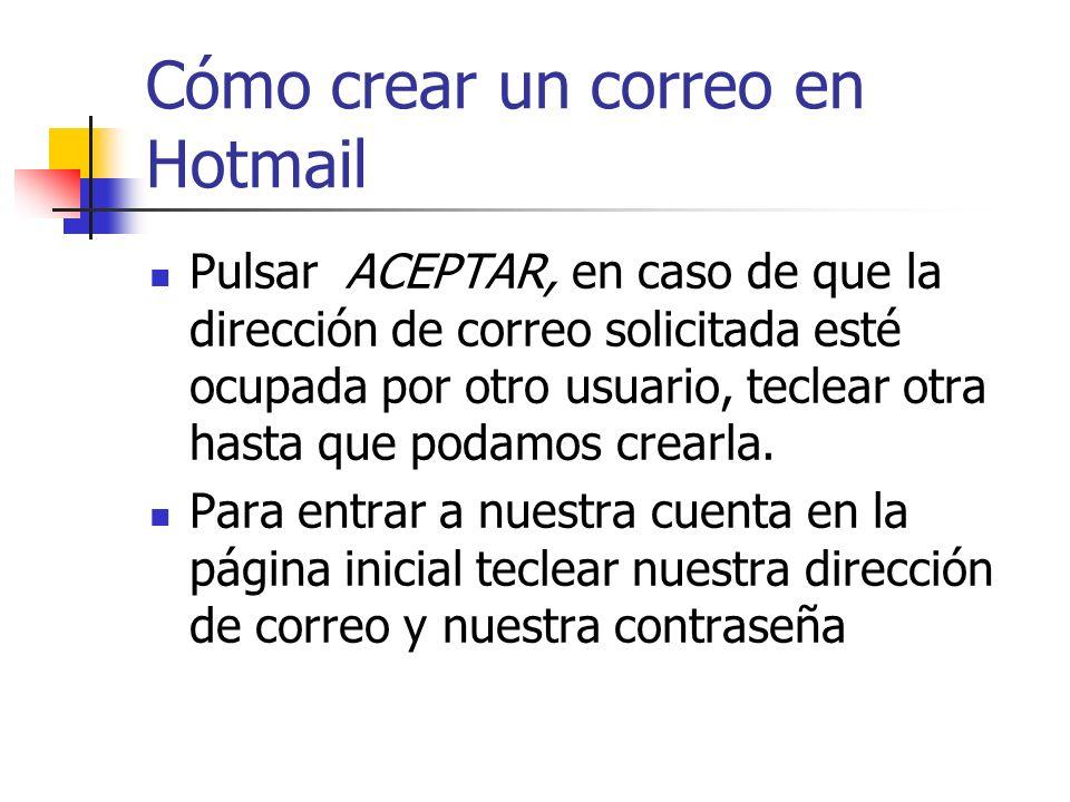 Cómo crear un correo en Hotmail