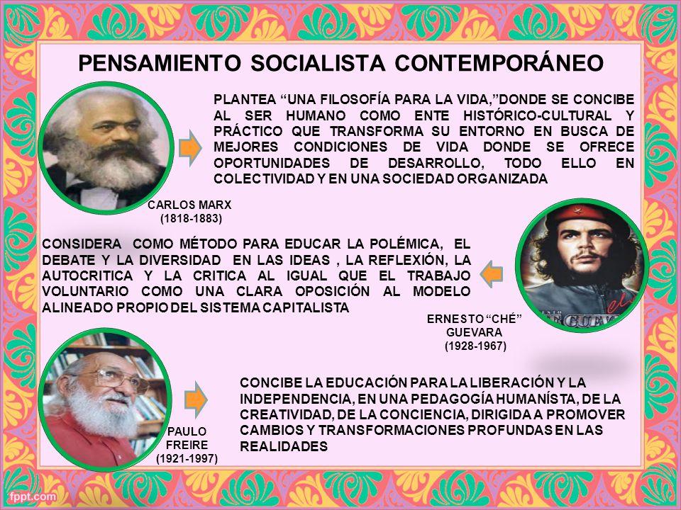 PENSAMIENTO SOCIALISTA CONTEMPORÁNEO