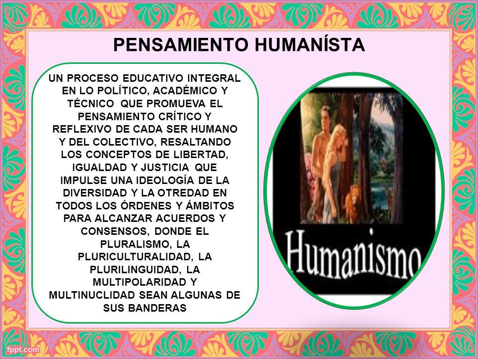 PENSAMIENTO HUMANÍSTA