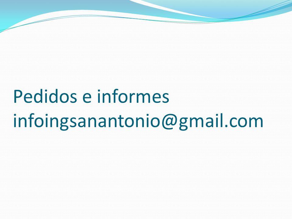 Pedidos e informes infoingsanantonio@gmail.com