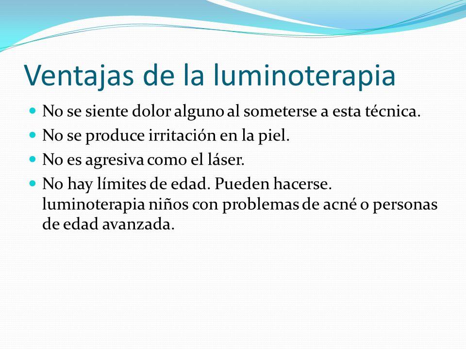 Ventajas de la luminoterapia