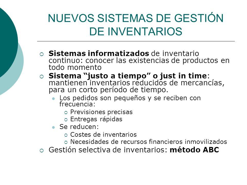 NUEVOS SISTEMAS DE GESTIÓN DE INVENTARIOS