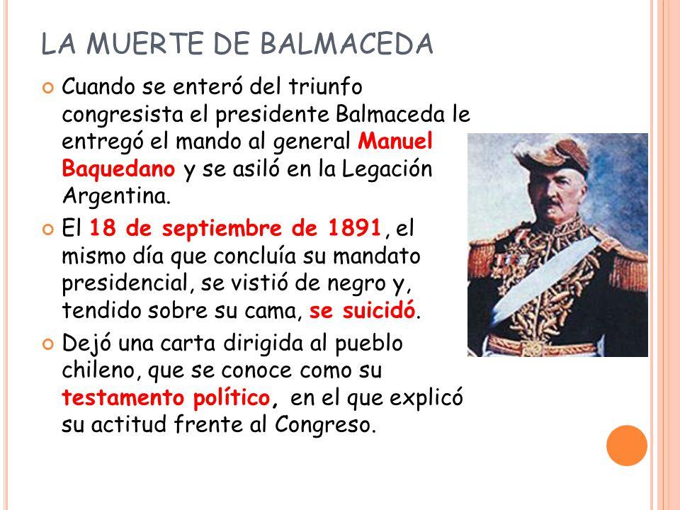 LA MUERTE DE BALMACEDA