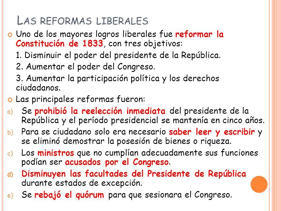 Las reformas liberales