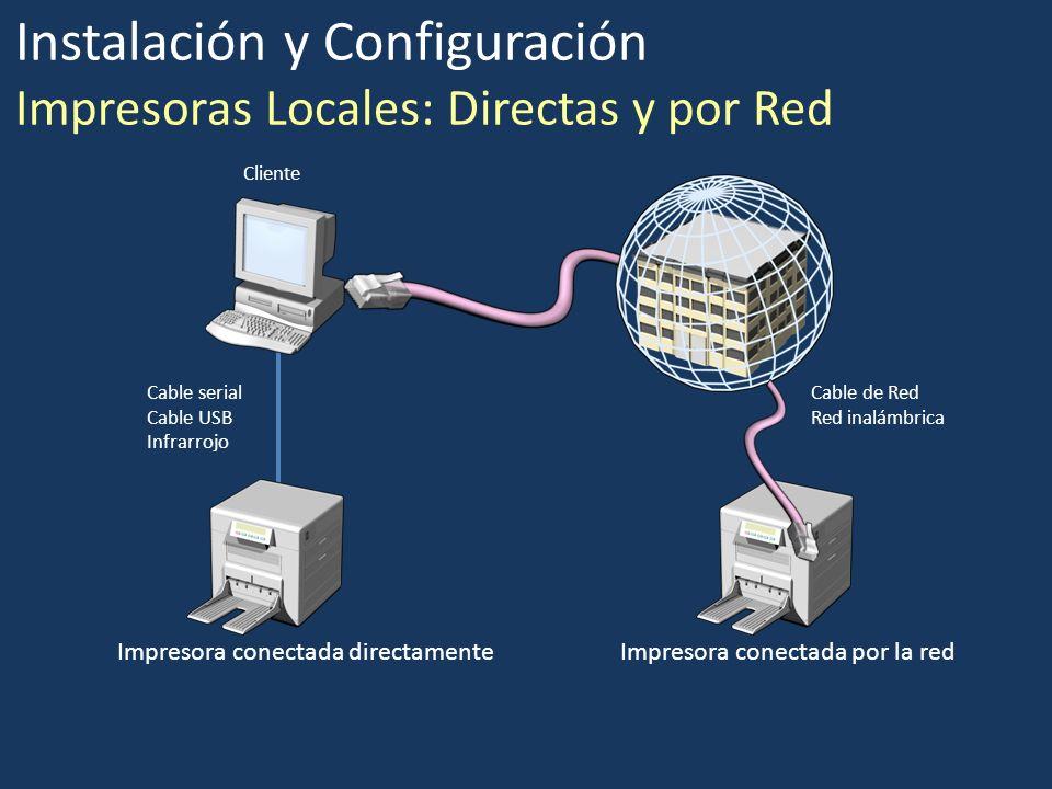 Instalación y Configuración Impresoras Locales: Directas y por Red