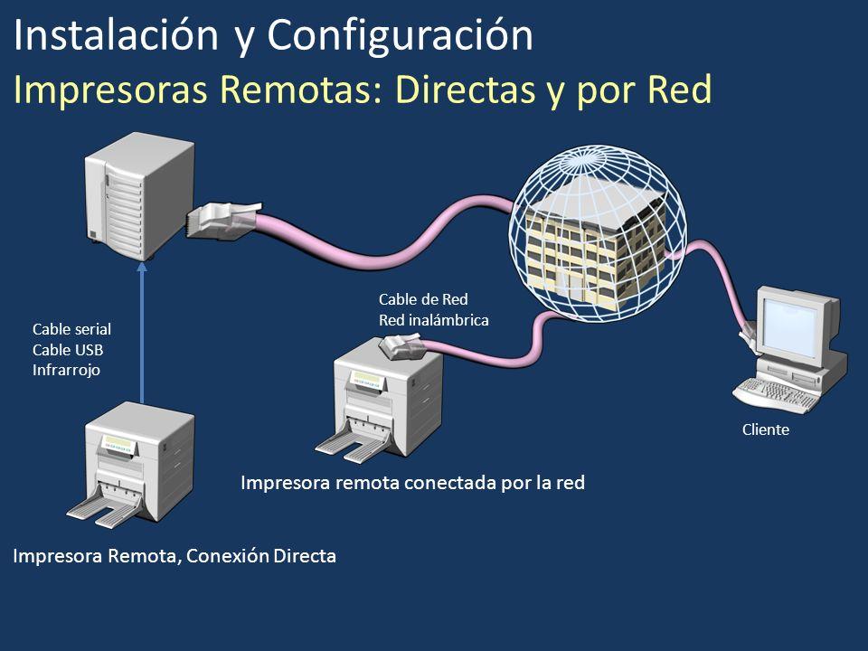 Instalación y Configuración Impresoras Remotas: Directas y por Red