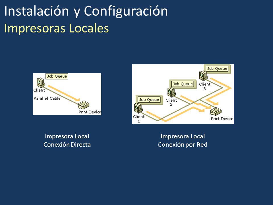 Instalación y Configuración Impresoras Locales