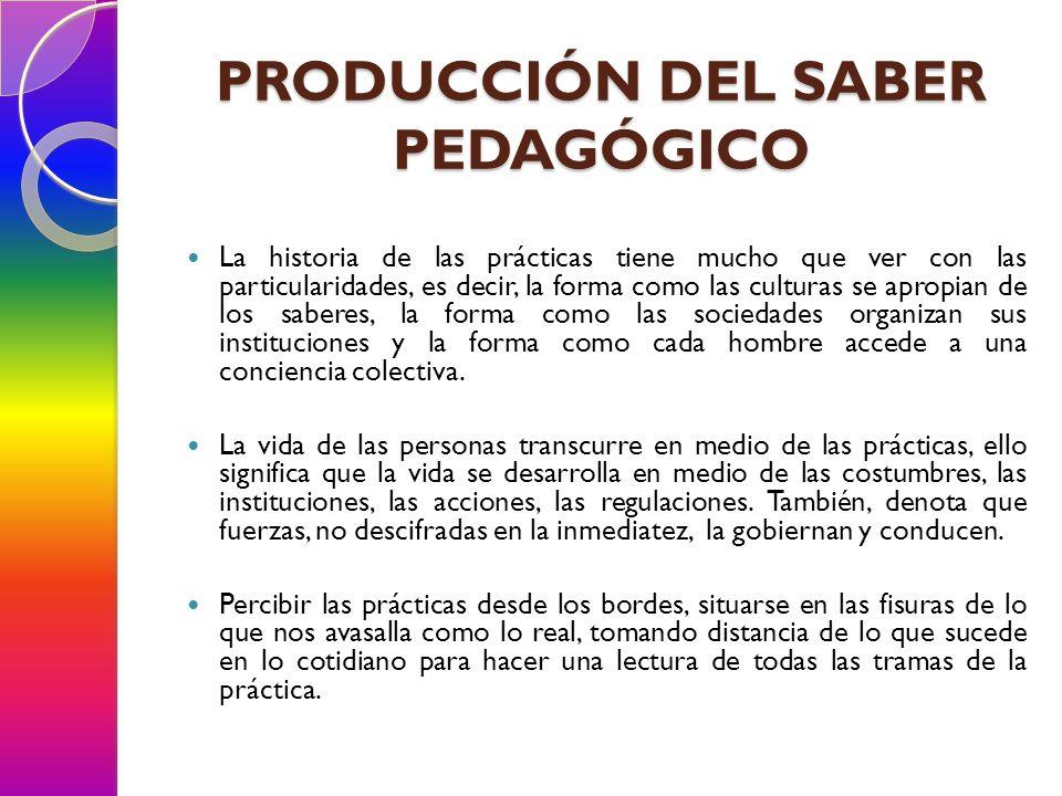 PRODUCCIÓN DEL SABER PEDAGÓGICO