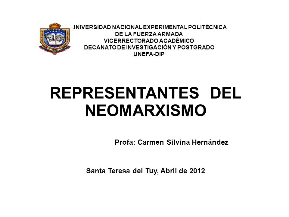 REPRESENTANTES DEL NEOMARXISMO