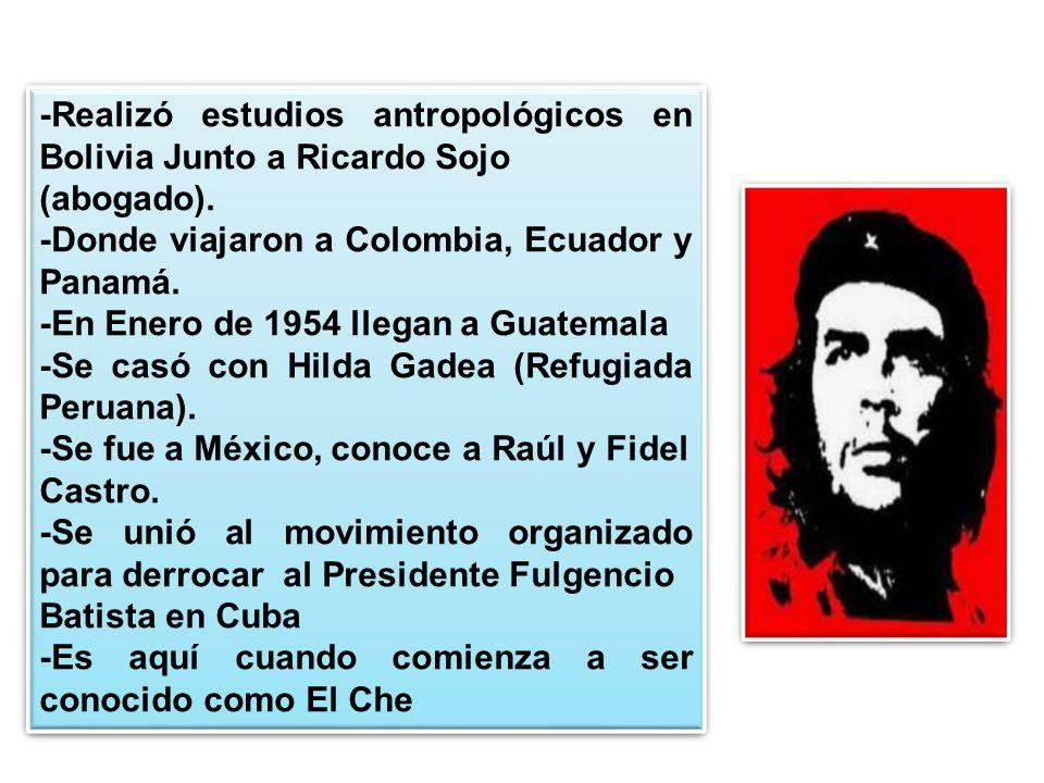 -Realizó estudios antropológicos en Bolivia Junto a Ricardo Sojo