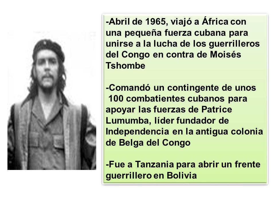 -Abril de 1965, viajó a África con