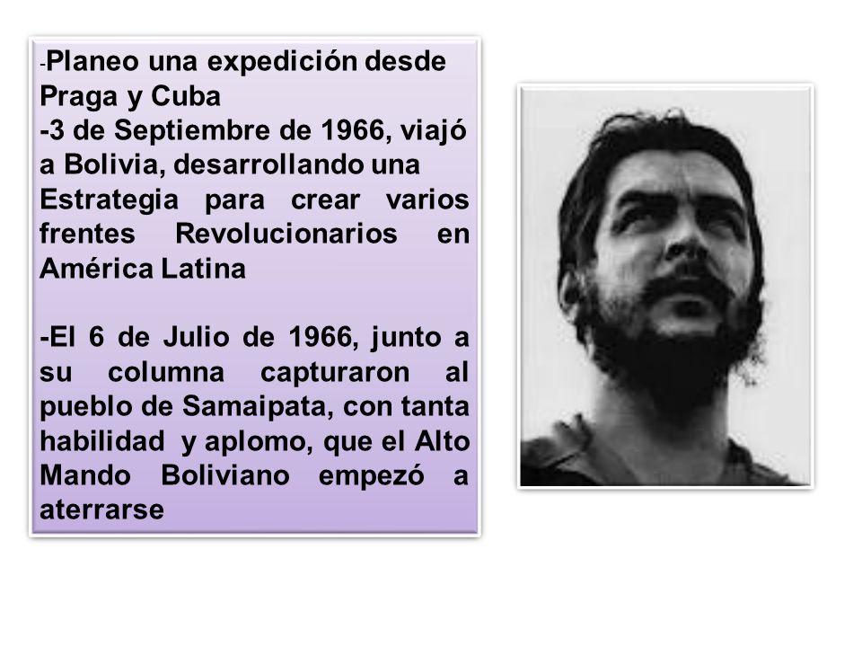 -3 de Septiembre de 1966, viajó a Bolivia, desarrollando una