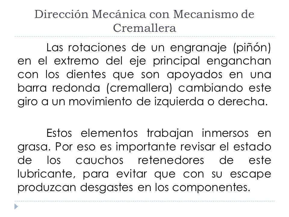 Dirección Mecánica con Mecanismo de Cremallera