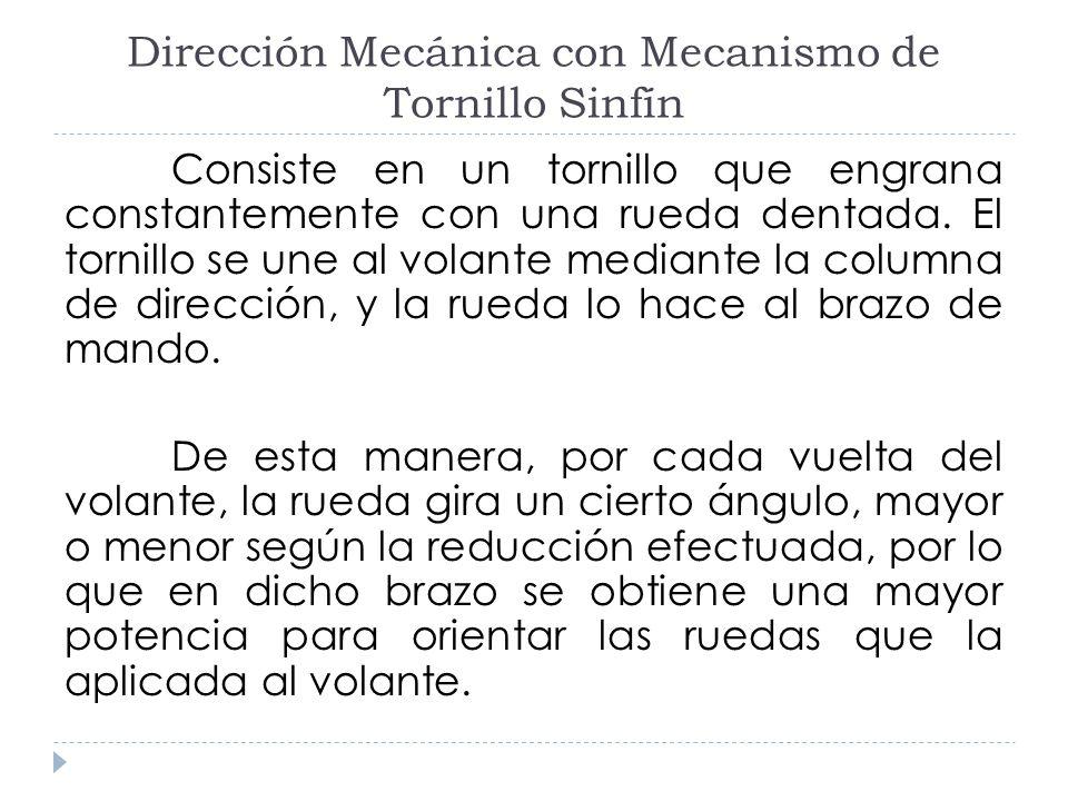 Dirección Mecánica con Mecanismo de Tornillo Sinfín