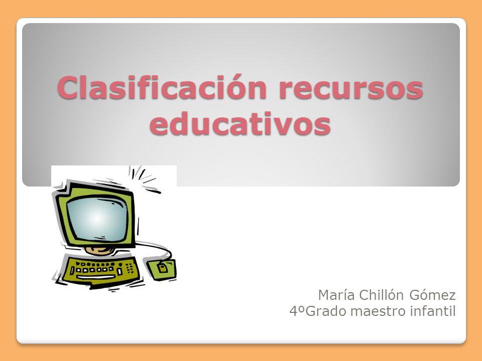 Clasificación recursos educativos