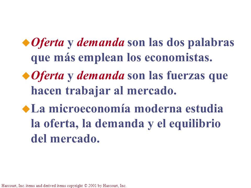 Oferta y demanda son las dos palabras que más emplean los economistas.