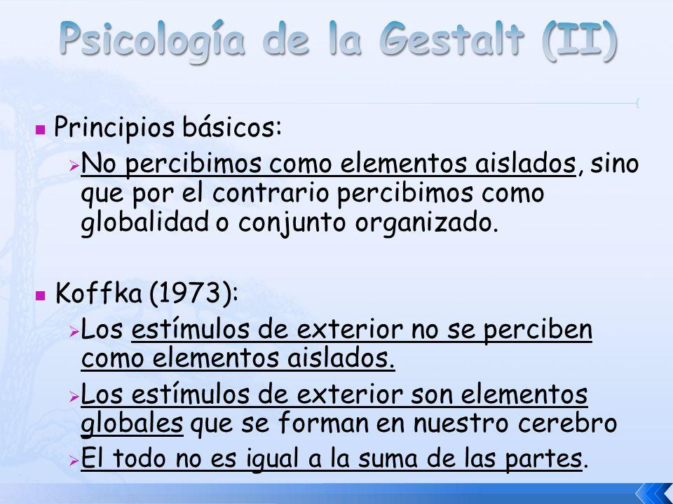 Psicología de la Gestalt (II)
