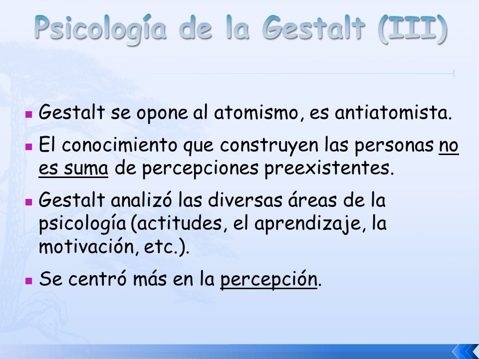 Psicología de la Gestalt (III)