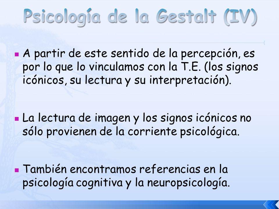 Psicología de la Gestalt (IV)