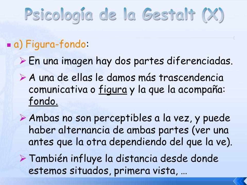 Psicología de la Gestalt (X)