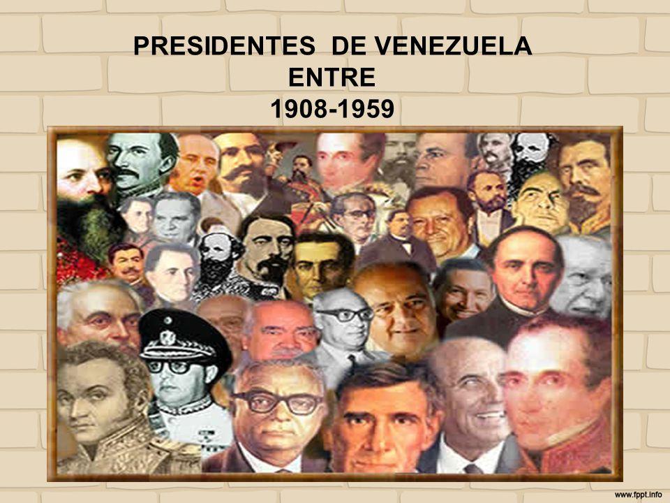 PRESIDENTES DE VENEZUELA ENTRE