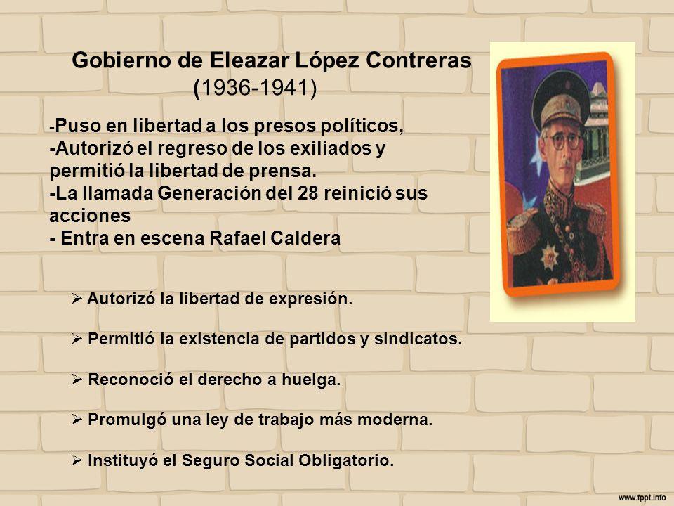 Gobierno de Eleazar López Contreras (1936-1941)