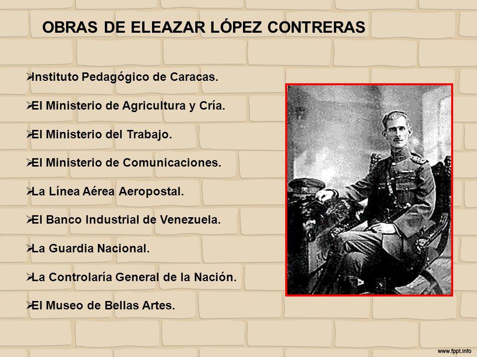 OBRAS DE ELEAZAR LÓPEZ CONTRERAS