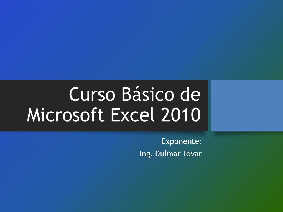Curso Básico de Microsoft Excel 2010