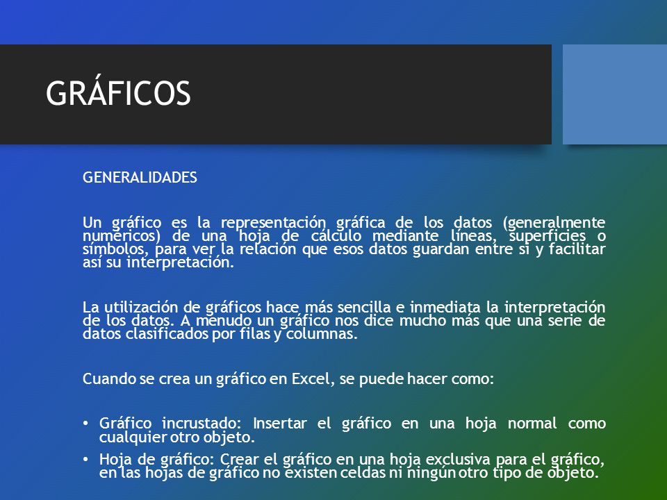 GRÁFICOS GENERALIDADES