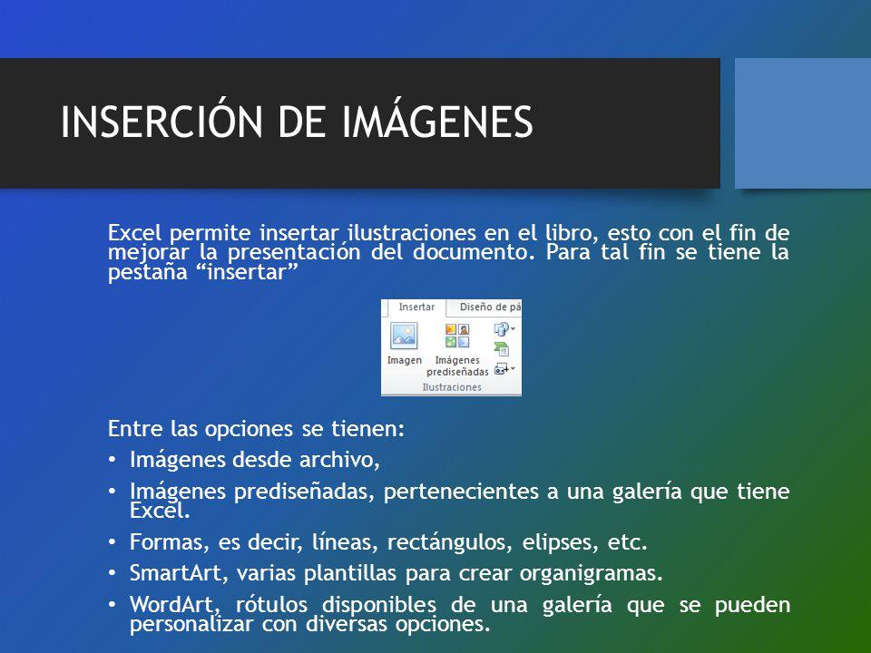 INSERCIÓN DE IMÁGENES