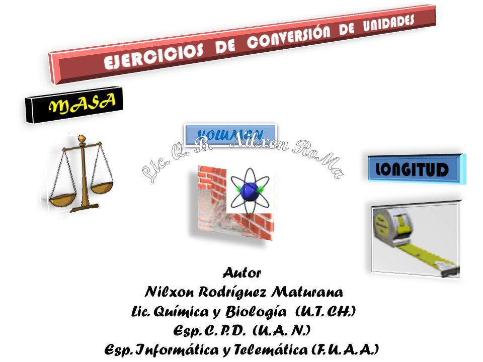 EJERCICIOS DE CONVERSIÓN DE UNIDADES