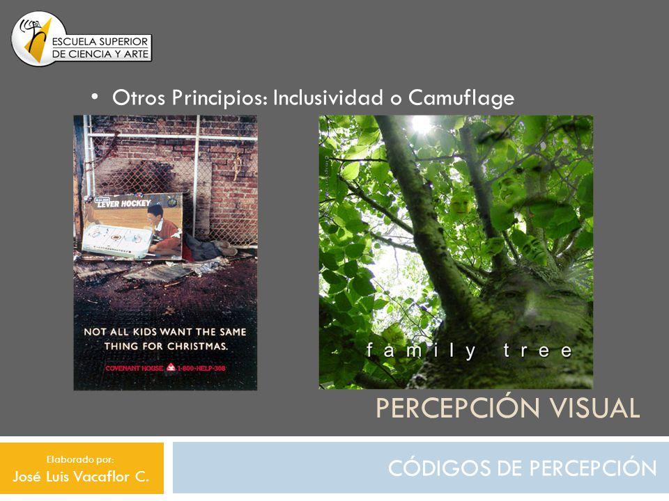 Percepción visual Otros Principios: Inclusividad o Camuflage