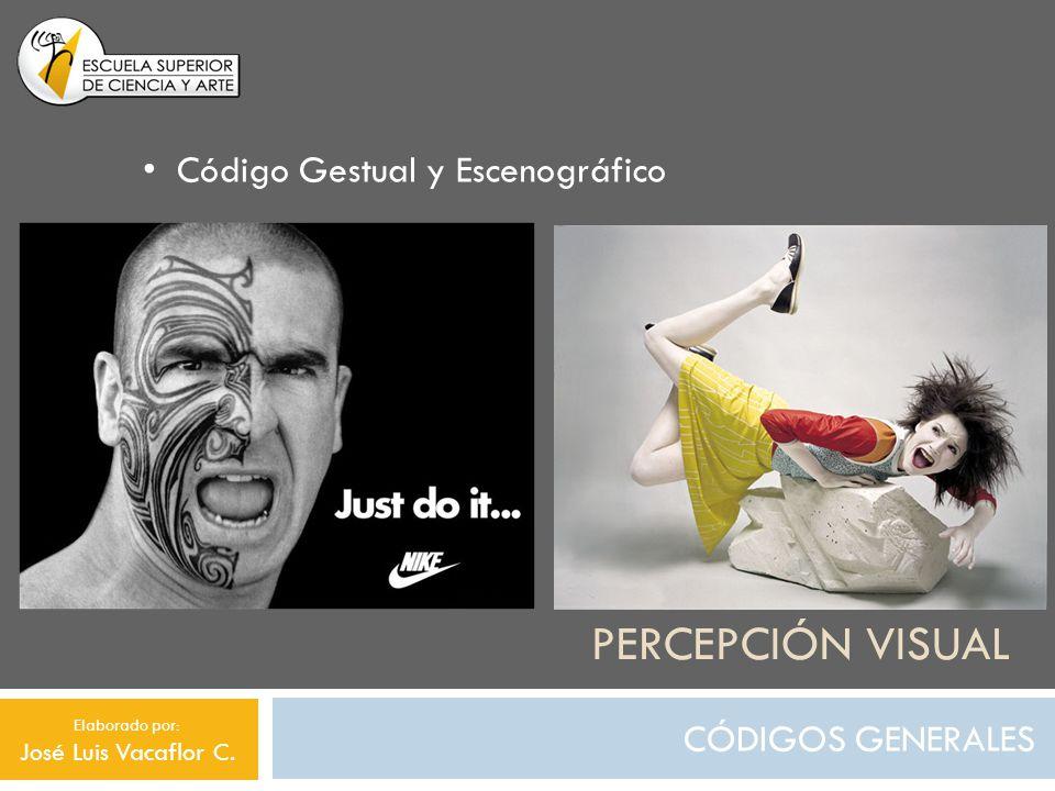 Percepción visual Código Gestual y Escenográfico CÓDIGOS GENERALES