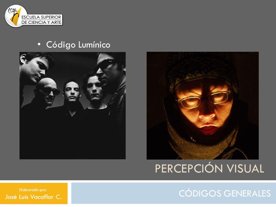 Percepción visual Código Lumínico CÓDIGOS GENERALES