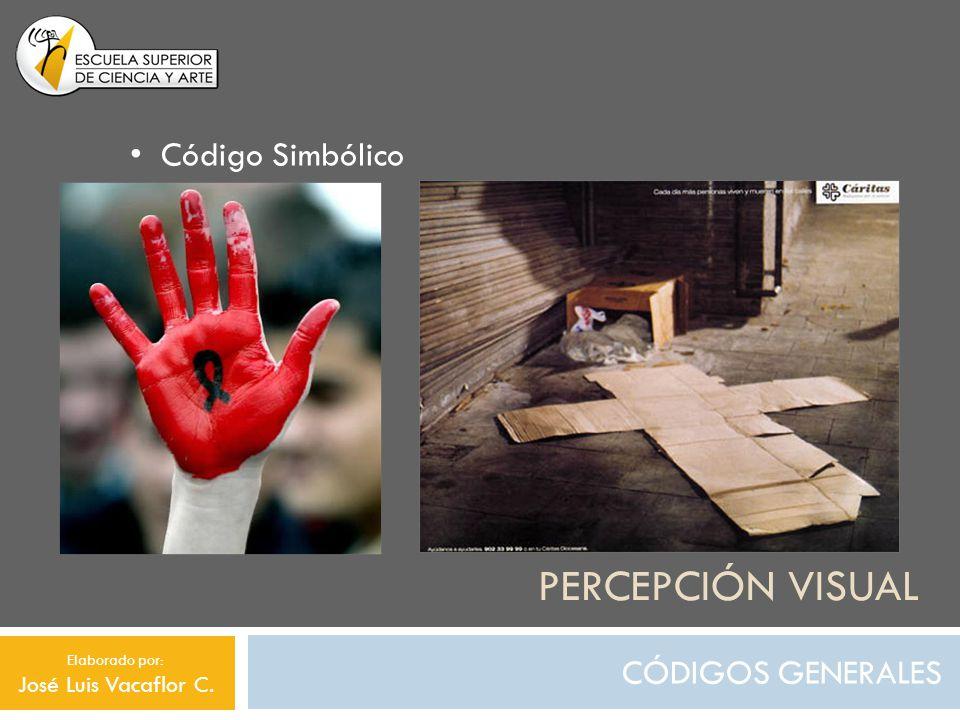 Percepción visual Código Simbólico CÓDIGOS GENERALES