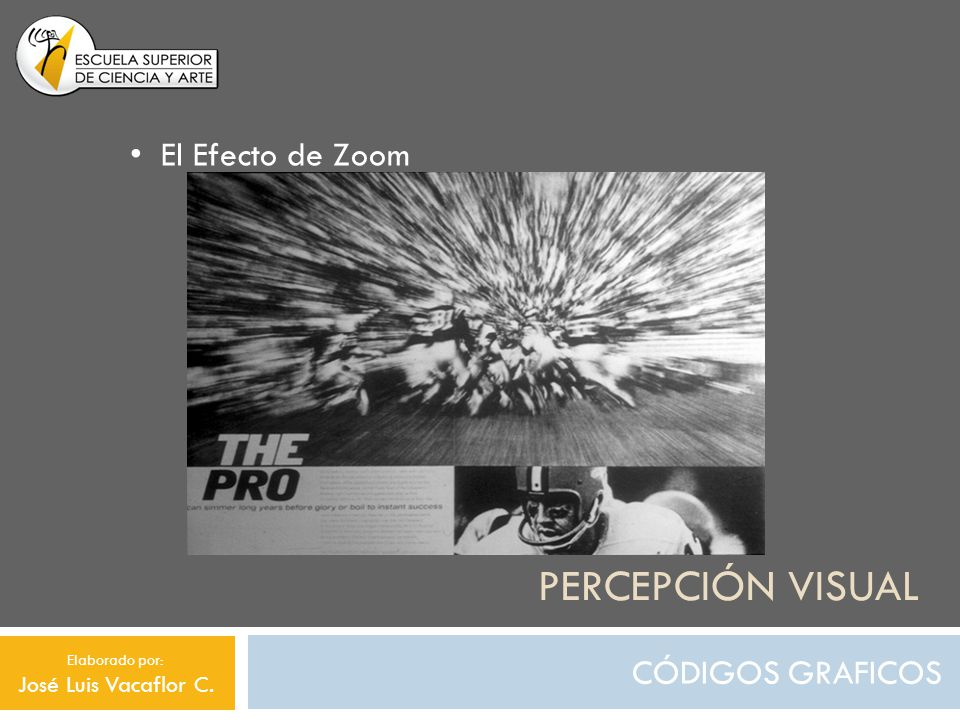 Percepción visual El Efecto de Zoom CÓDIGOS GRAFICOS