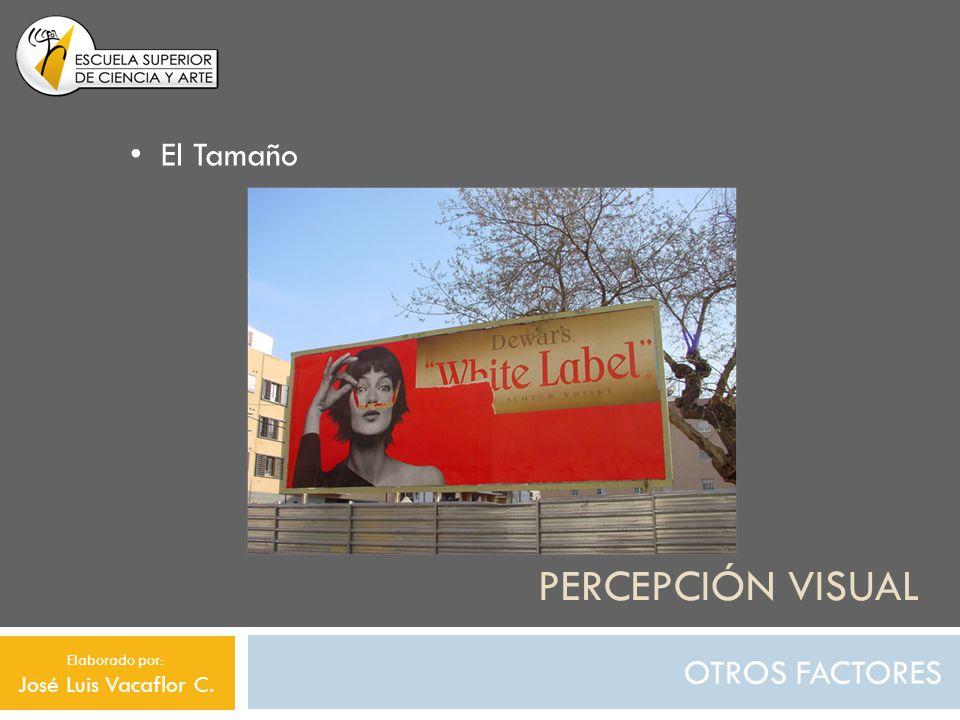 Percepción visual El Tamaño OTROS FACTORES José Luis Vacaflor C.