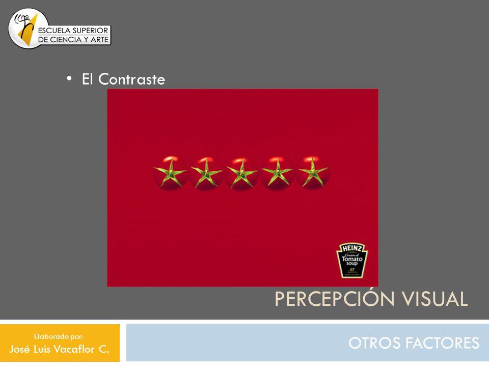 Percepción visual El Contraste OTROS FACTORES José Luis Vacaflor C.