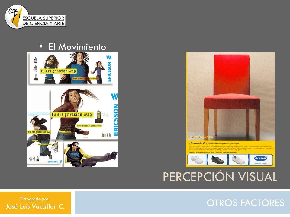 Percepción visual El Movimiento OTROS FACTORES José Luis Vacaflor C.