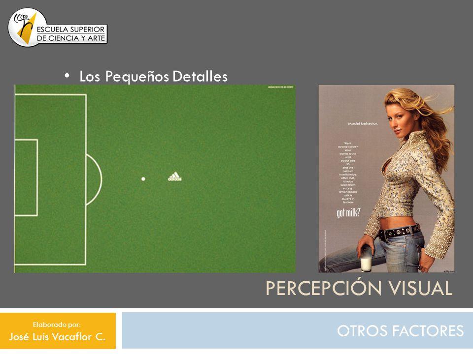 Percepción visual Los Pequeños Detalles OTROS FACTORES